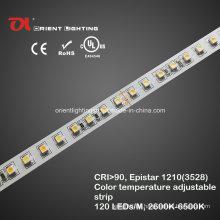 UL High CRI Epistar 1210 Variabler weißer Streifen, LED-Licht