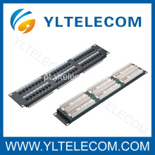 2U 19 polegadas 48port(6*8) tipo Patch Panel Cat. 5E e Cat. 6