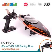 2.4G 65 см черный новый дизайн двойной лошади скорость rc лодки