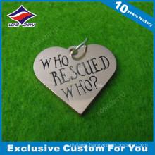 Heart Shape New Custom Design Dog Tag with Chain