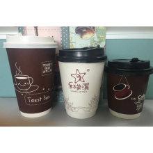 Copo de café quente de parede dupla