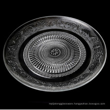 Eco-friendly Glass material Handmade Round Charger Plate