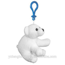 Llavero relleno promocional del oso polar llavero del oso polar de la felpa