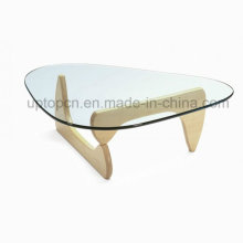 Special Shape Tempered Glass Cafe Restaurant Leisure Table (SP-GT417)