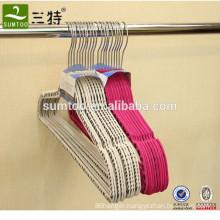 non slip plastic velvet flocked suit hanger