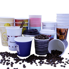 Amazon ripple wall paper coffee cup 4 8 12 16 oz logo color printing packaging custom