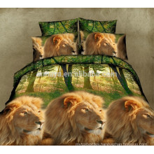 3D Lion King Design 100% Polyester Microfiber Bed Sheet Set Single Queen Size