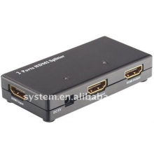 2 puertos HDMI Splitter, amplificador de distribución HDMI (1x2)