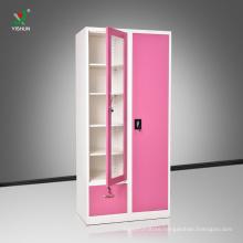 Indian Bedroom Steel Furniture Cloth Wardrobe Cabinet