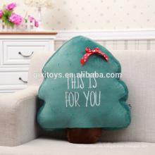 Mini juguete barato de la felpa de la decoración del árbol de navidad de la venta caliente