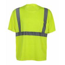 T-shirt à col rond avec ruban réfléchissant