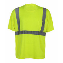 Круглый-шеи T-рубашка с отражающей лентой