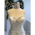 высокое качество милая декольте кружево аппликация русалка свадебное платье