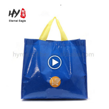 Full color printing waterproof pp woven tote hand bag china