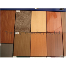 Wooden Stone Grain Mirror Color Aluminum Composite Panel Production Line Sandwich Panel Exterior Interior Building Curtain Wall Cladding Materials