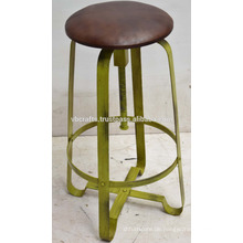Industrielle Retro Swivel Bar Hocker Disstress Green Old Color