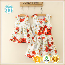 Colouful summer holiday girls dresses children daughters dress and mothers dress