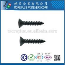Taiwan M3X14mm Black Zinc Flat Head Type AB Vis auto-taraudeuse