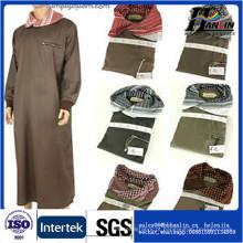 Tela thobe árabe de alta qualidade para homens