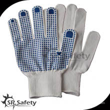 SRSafety cotton knitted safety construction working glove with 13G/cheapest glove