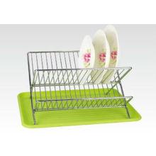 Grünes und umweltfreundliches Metal Dish Rack, Küchenschüssel Rack & Schüsselhalter