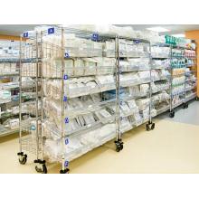 NSF removível metal Slanted Rack de armazenamento para Hospital / Drugstore (SL186078A6CW)
