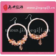 Boucles d'oreilles de fil d'oreille de Dangler de bijoux culturels de ShangDian
