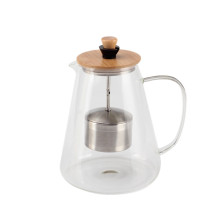 Teatime Glass Tea Pot Infusor ajustable alto
