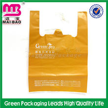 Bolso de plástico biodegradable modificado para requisitos particulares colorido del chaleco de la camiseta del LDPE / HDPE del supermercado
