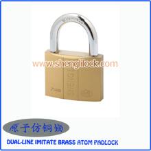 Factory Price Safe Security Dual-Line Imitate Brass Atom Padlock