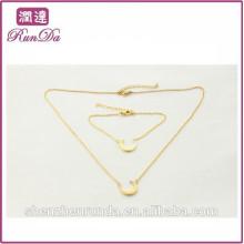 Alibaba special shape moon torque jewelry sets