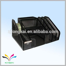 Office necessary multi-function file stand for display files with pen holder