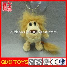 Llavero de león de felpa de juguete de león rellenado animado personalizado