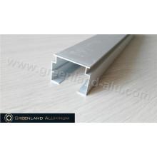 Vertikale Blindkopfschiene aus eloxiertem Silber, 32 mm Höhe