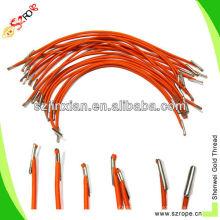 эластичный шнур с металлическими наконечниками/эластичная веревочка с колкостями/эластичный шнур с металлическими складками