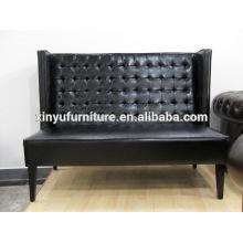 Black PU leahter event longue sofa XY0371