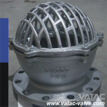 Dn200 A216 Wcb/Lcb/Wc6/CF8/CF8m Foot Valve with Flange