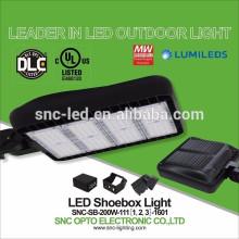 Outdoor Pole Mounted 200W LED Parking Lot Shoebox Light with UL DLC