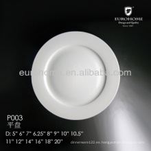 "Plato de pan de porcelana de 6 1/4 "", plato de ensalada, plato de postre de porcelana de 6,25"""
