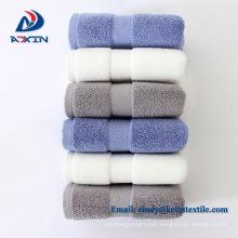 Top quality 100% cotton luxury border hotel towel 5 star
