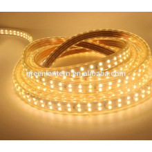 Impermeable IP66 180leds / m Doble Fila 220V 2835 Cuttable Led Luz de Tira