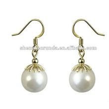 2013 Engagement drop earring pearl earring pearl earring designs cheap pearl necklace and earring set