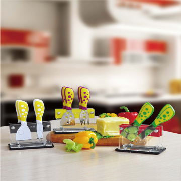 5pcs fromage set avec support carylic
