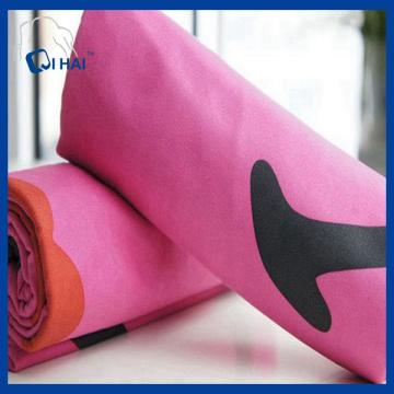 Cor rosa cor sólida microfibra toalha seca rápida (qhq88212)
