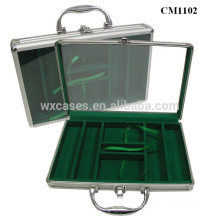 rounded corner 200 aluminum poker card acrylic case