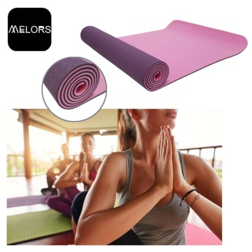 Purpur + Hellrosa Anti-Rutsch-Yoga-Fitness-Yoga-Matte