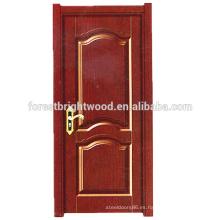 Diseño de puerta de melamina interior tradicional de moda para puerta de dormitorio