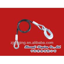 Accessoires de corde métallique avec crochet d'oeil