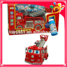 Electric Truck Shooting Bubble BO Fire Fighting Truck With Light and Music