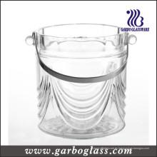 Tanque del refrigerador del vidrio de vino de la alta calidad con la manija del acero inoxidable